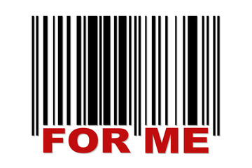 Barcode with label FOR ME
