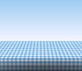 Tischdecke kariert blauer Hintergrund