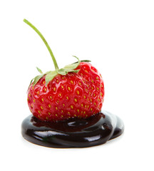 Chocolate-dipped strawberry