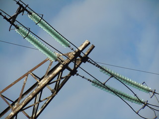 Part of power transmission tower