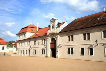 Old castle administrative buildings in Litomysl, Czech Republic
