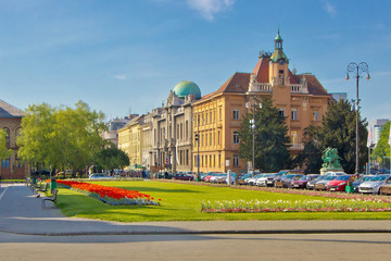 City of Zagreb colorful square