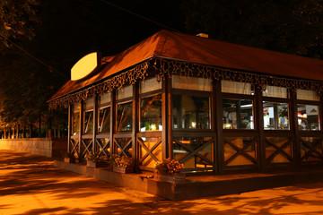 Night cafe in walking street