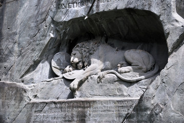 Famous lion monument in lucerne, Switzerland