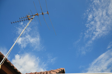 antenna with Sky and Cloudscape