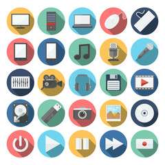 computer & multimedia icons set