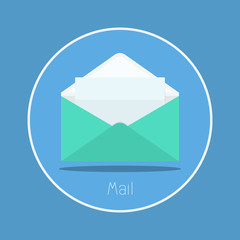 "Mail : Vector ""mail"" icon flat design"
