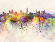 Melbourne skyline in watercolor background - 66858868