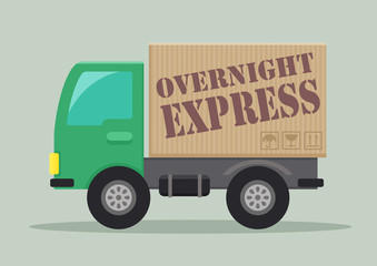 delivery truck overnight express