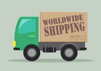 delivery truck worldwide shipping