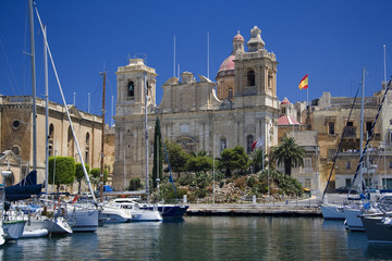 Vittoriosa viewed from Senglea in Valletta - Island of Malta