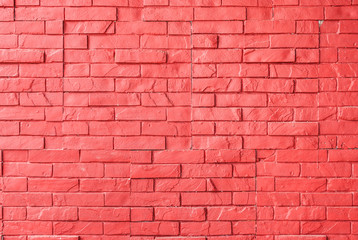 Red Rough Brick Wall Background/ Texture