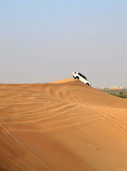 Jeep safari around Dubai; UAE