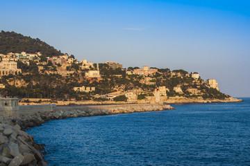 Nice, France. Beach near Promenade d'Angles