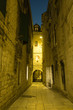 Narrow street of historic Split old city, Croatia