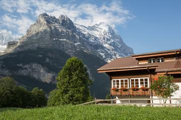 Haus vor Eiger Nordwand
