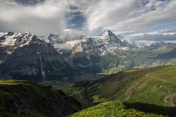 Grindelwald und Eiger Nordwand Panorama