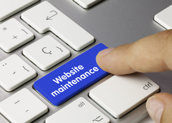 Website maintenance. keyboard