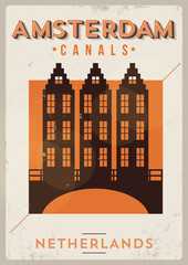 Amsterdam City Typography Design