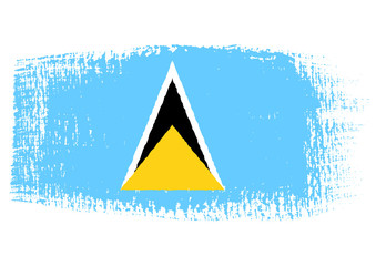 brushstroke flag Saint Lucia