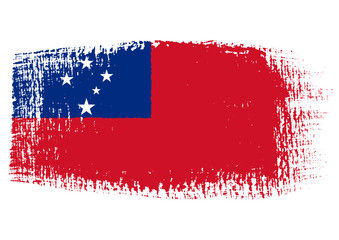 brushstroke flag Samoa