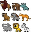 Постер, плакат: Набор милый мультфильм животных
