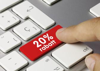 20% rabatt. Tastatur