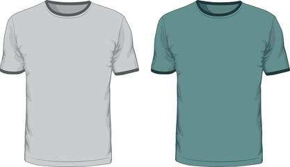 Men's t shirts design template. Vector