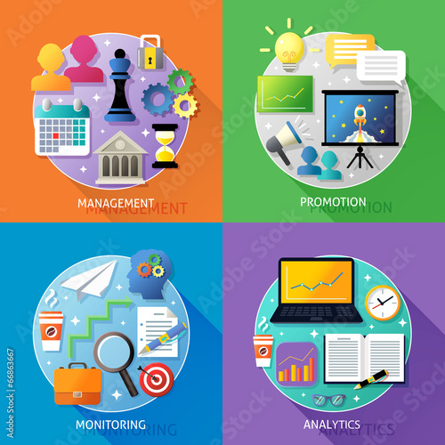 Business steps concept