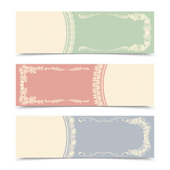 Blank decorative banners