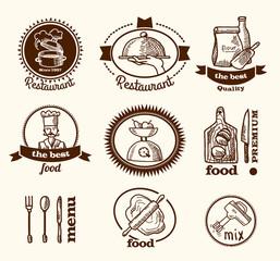 Restaurant label sketch