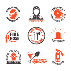 Firefighting label set