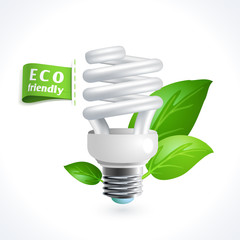 Ecology symbol lightbulb