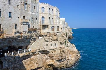 Italy, Apulia, Polignano a Mare, Grotta Palazzese.