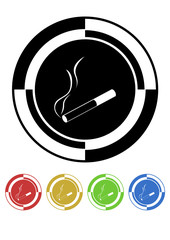 Cigarette button mosaic retro colors