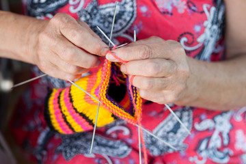 Grandmother knits