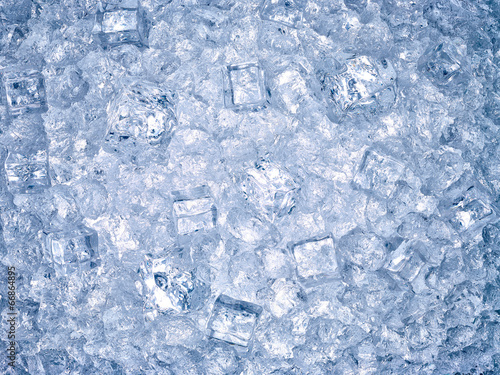 Deurstickers Water ice cube background cool water freeze