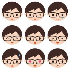 成人男性 表情 アイコン