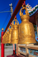 row of bells at Chinese Shrine