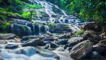 MAEYA Waterfall Famous Cascade Of Chiang Mai, Thailand