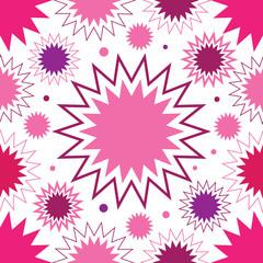 Pink stars seamless pattern