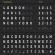 Analog airport scoreboard - 66866414