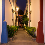 Abenddämmerung in Puerto de Mogán auf Gran Canaria poster