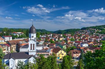 Panorama of town Bosanska Krupa