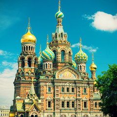 Church of the Savior on Spilled Blood in Saint Petersburg, Russi