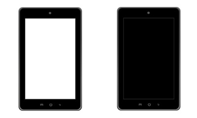 Tablet z białym ekranem, tablet z czarnym ekranem