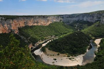 Gorges de l'Ardèche,méandre,