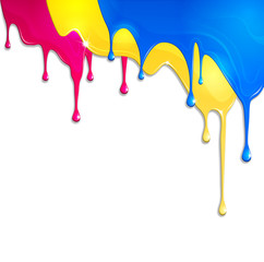 spilled paint
