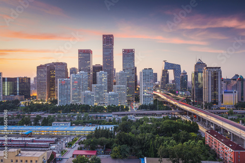 Foto op Canvas Beijing Beijing, China Financial District
