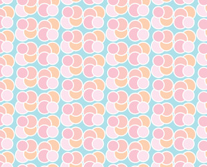 circle pastel seamless pattern